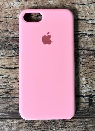 Силиконовый чехол для iphone 7 plus / 8 plus розовый