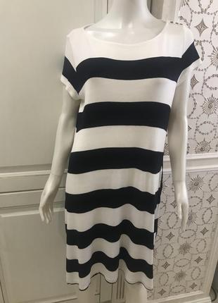 Трикотажное платье/сарафан в морском стиле h&m