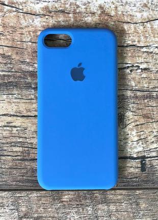 Силиконовый чехол для iphone 7 / 8 / 7 plus / 8 plus синий