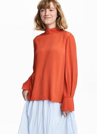 Блузка h&m. оранжевая