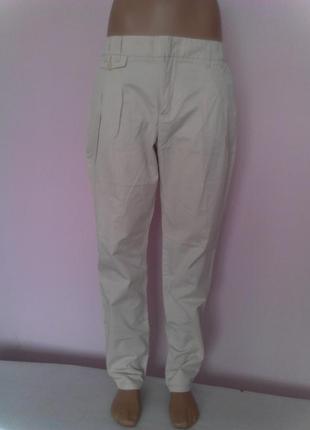 Кремовые отличные повседневные брюки размер 28