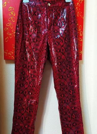 Кожаные штаны с высокой посадкой