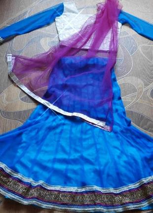 Детский индийский костюм. сари.  10-12 лет