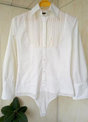 Блузка—боди в школу,хлопок