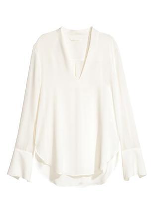 Блузка с треугольным вырезом h&m 34/xs блуза
