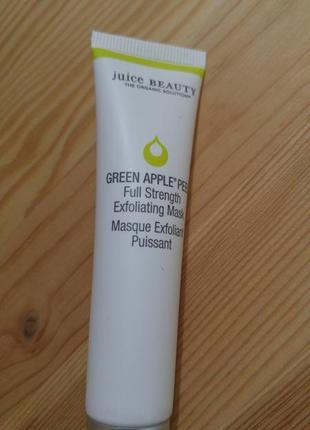 Отшелушиваюшая маска juice beauty green apple peel full strength exfoliating mask 15 мл