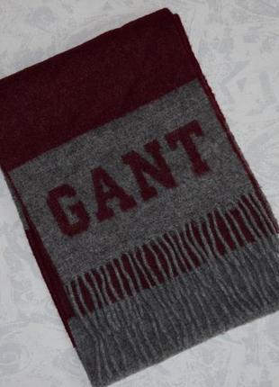 Gant шерстяной шарф 100% овечья шерсть теплый шарф gant lambswool