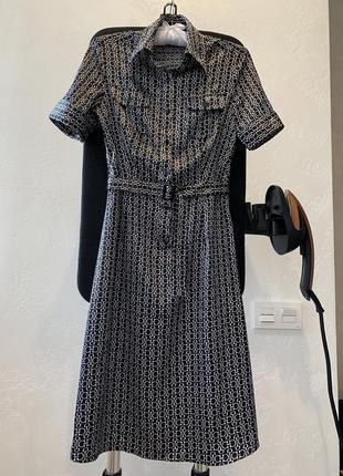 Шикарное шелковое платье миди от pta!