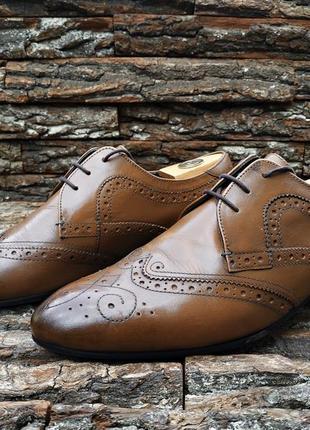 Броги ted baker 42.5 43 размер туфли мужские натуральная кожа дерби