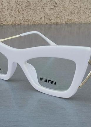 Miu miu очки кошечки женские имиджевые оправа для очков белая