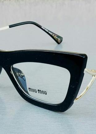 Miu miu очки кошечки женские имиджевые оправа для очков черная