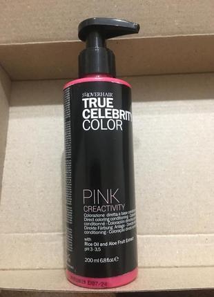 Фарбуючий кондиціонер для волосся рожевий creativity pink італія