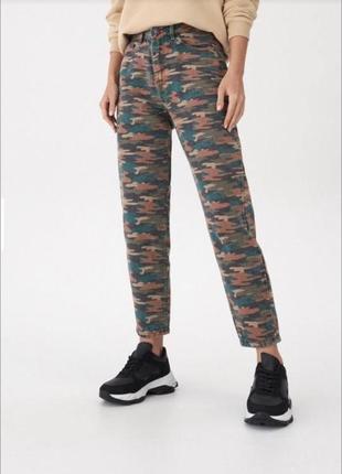 House джинсы плотные mom!!!!