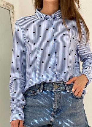 Стильная полосатая рубашка h&m