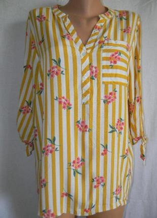 Легкая натуральная блуза рубашка papaya