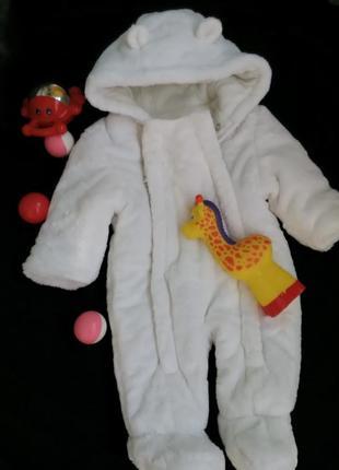 Меховой зимний комбинезон ,, мишка,, от рождения