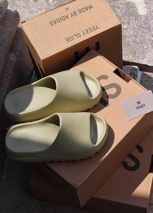 Женские шлепанцы adidas yeezy  slide resin