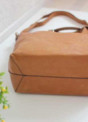 Новая рыжая сумка шопер, несколько вариантов носки, бренд warehouse5