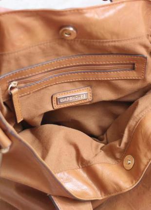 Новая рыжая сумка шопер, несколько вариантов носки, бренд warehouse4