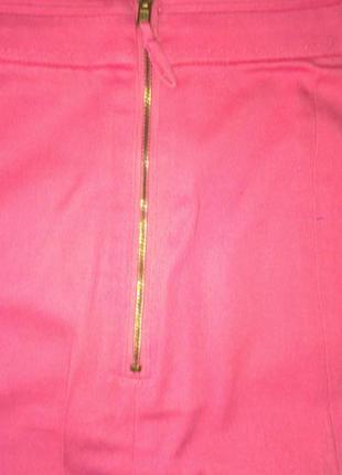 Юбка женская  мини розовая 46-483