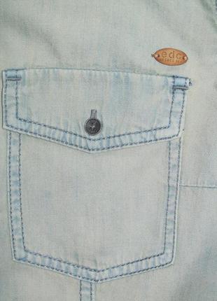 Стильная голубая джинсовая рубашка esprit edc 42-44 укр.4