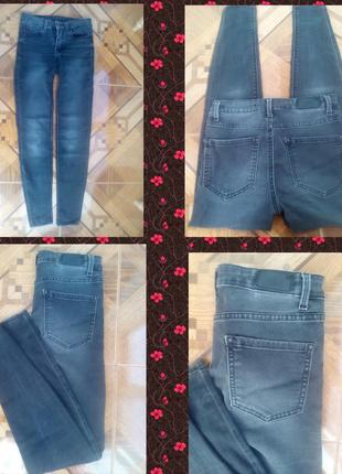 Джинсы zara джинси  темно-серые1