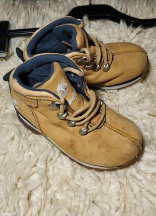 Детские кожаные ботинки timberland для мальчика.