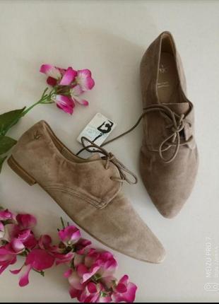 Шикарние туфли, бренд caprice, натуральная замша. 37,39