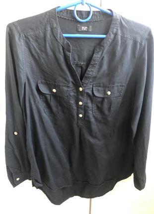 Блузка рубашка лён хлопок f&f