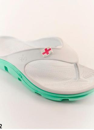 Вьетнамки женские, белые, р. 36 - 41, медицинская обувь,118202