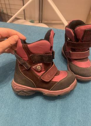 Зимние ботинки minimen для девочки.