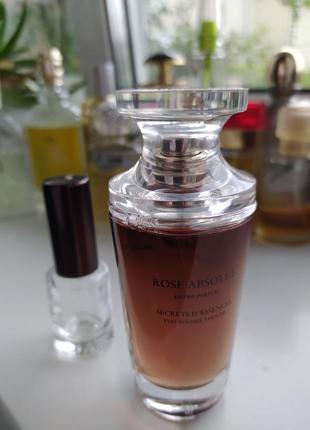 Rose absolue yves rocher, винтаж, парфюмированная вода,  1 мл, делюсь!