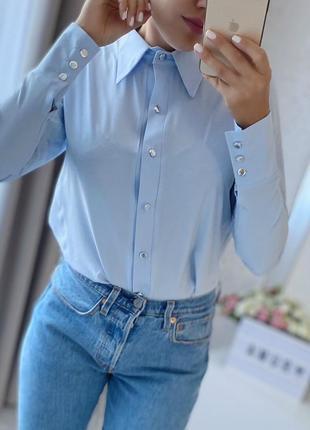 Базовая рубашка с высоким манжетом