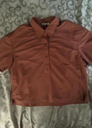 Рубашка с коротким рукавом uniqlo