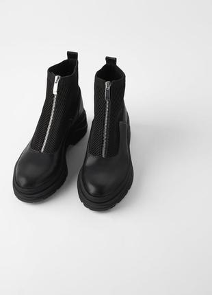 Ботинки zara 37 размер на замочке