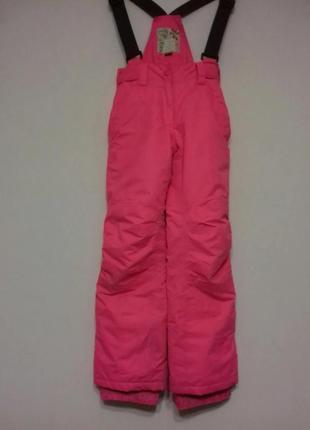 Hema оригинал детские лыжные штаны размер на 8 9 10 лет на  рост 134-140см