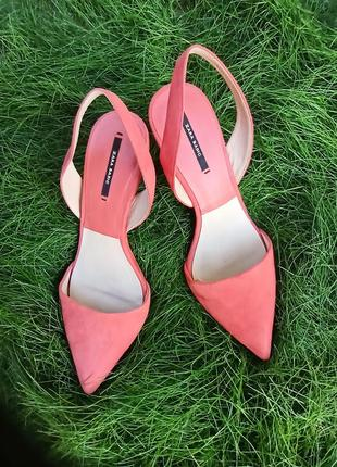 Туфли босоножки лососевого 🍑 цвета