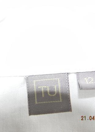 Белое платье-рубашка лен3