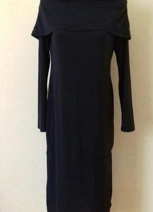 Красивое платье прямого кроя с открытыми плечами h&m1