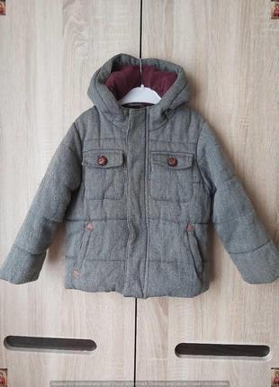 Фирменное next утепленное стильное пальто деми (осень-весна) на мальчика 4-5 лет