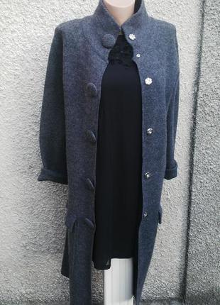 Шерстяной удлиненный кардиган,кофта ,вязанное пальто,шерсть 100%, hobbs