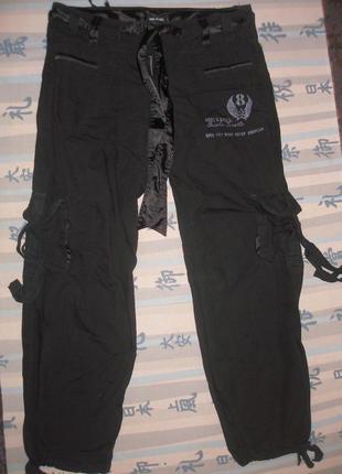 Крутецкие штаны в стиле карго.на укр 46-50.тонкий коттон и атлас