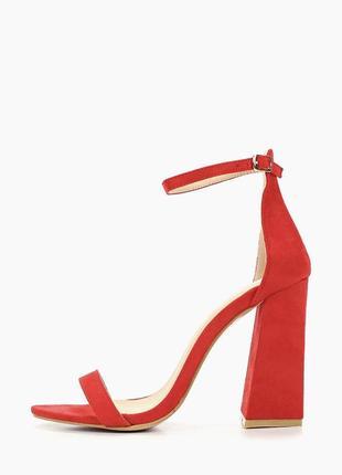 Красные босоножки go-go на каблуке