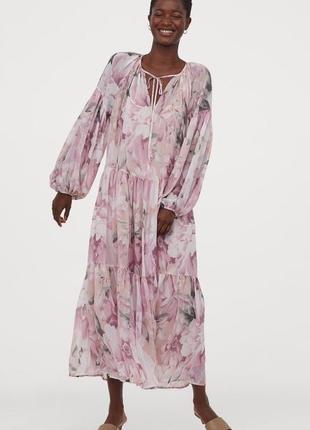Шифонове плаття в квіти h&m