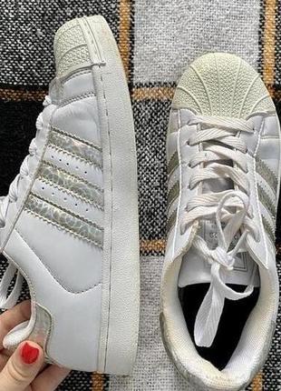 Кроссовки adidas superstar 38,5 размер.
