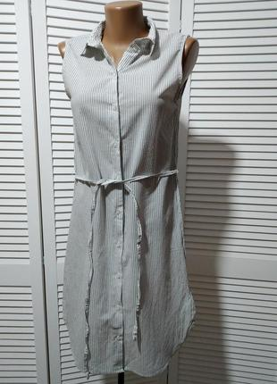 Платье рубашка из тончайшего хлопка в полоску