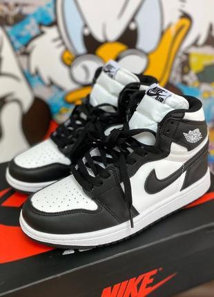 Nike jordan  1 retro high patent black white женские кроссовки наложенный платёж купить