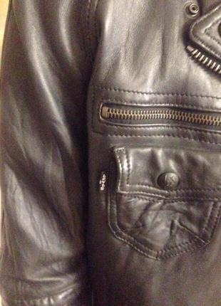 Кожаная куртка косуха брендовая