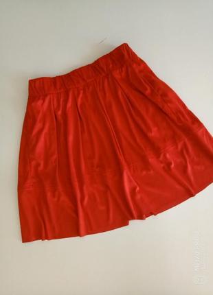Крутая фирменная юбка под замшу от немецкого бренда esmara л