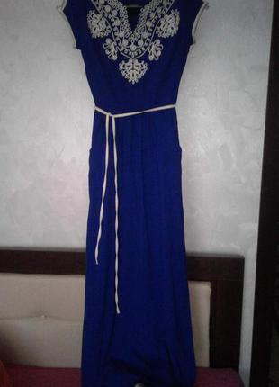 Платье-лен